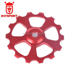 Witsport 11t/12t/13t/14t/15t bicycle pulley with steel or ceramic bearing