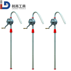 Top Selling Hand Oil Pump Hand Drum Pump for 200L Oil drum Aluminum hand rotary pump 25mm