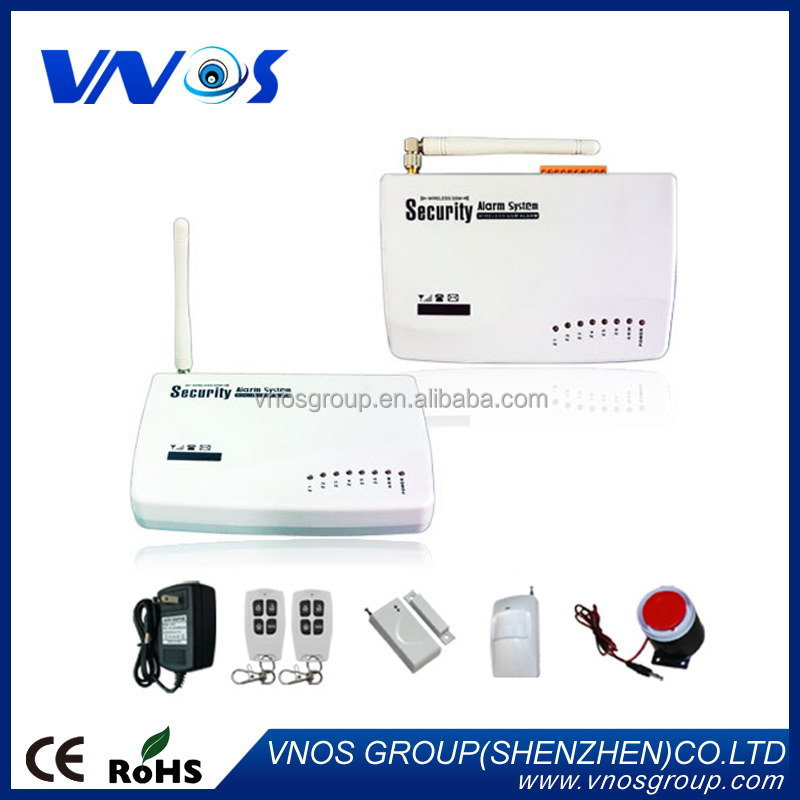 GSM Alarm System,433MHZ quad band wired wireless burglar security GSM burglar alarm system
