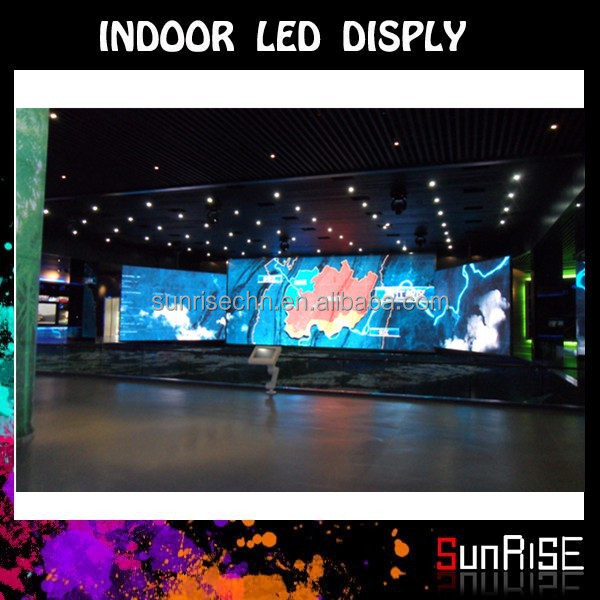 Sunrise P10 Indoor Led Display For New Project,Low Price,High Quality and density Dot Matrix P4 full Color Led Display Indoor,P4