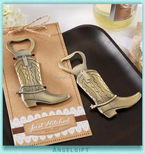 Wedding Gifts Just Hitched Cowboy Boot Bottle Opener