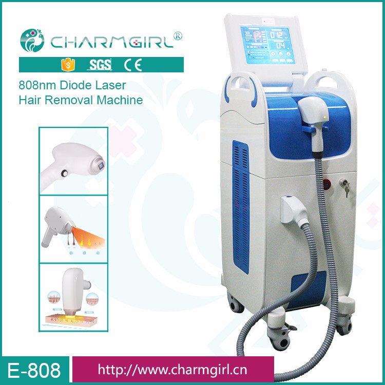 Painless Air+water circulation+semi-conductor 808 diode laser hair removal machine for beauty