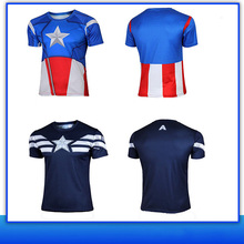 Most Popular Products Mens jersey lycra superhero t-shirt