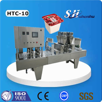 shanghai factory multi-function automatic plastic cup filling sealing machinery for jelly/cream/paste/coffee/milk/yogurt
