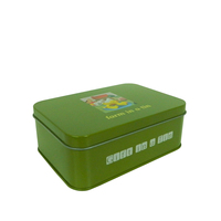 Rectangular Metal Gift Tin Box For