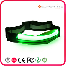 USB Rechargeable Multicolor LED Sport Waist Bag with Reflective Material