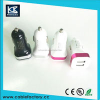 China supplier 12v car battery charger input 12~24V output 5V usb car charger with cable