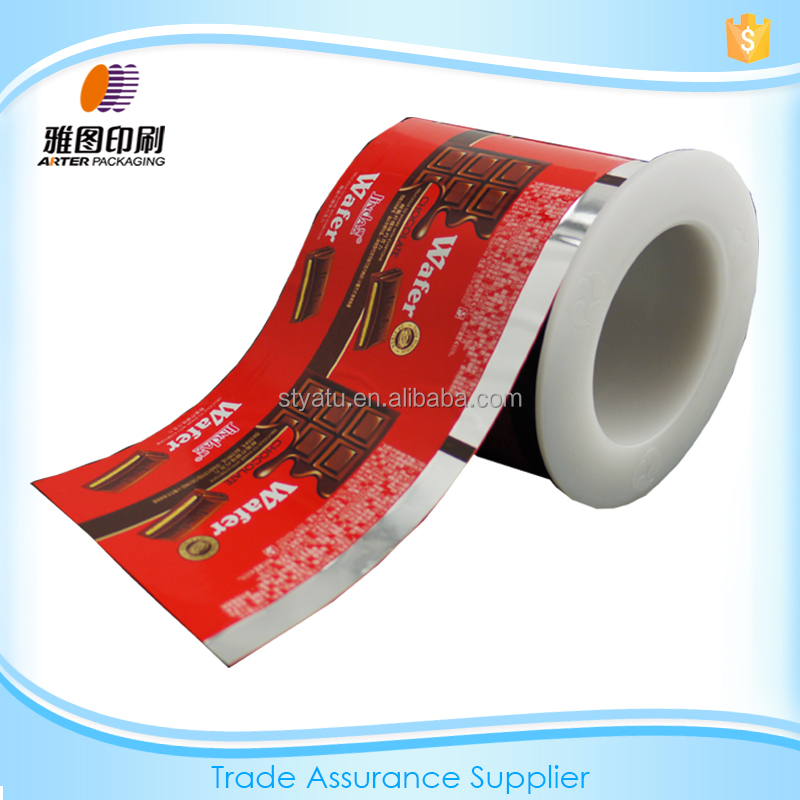 Plastic cold laminating chocolate wrapper packaging film/Red
