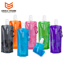 Promotional Custom BPA Free Plastic Collapsible Sports Foldable Water Bottle