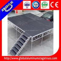 aluminum adjustable portable folding stage stairs