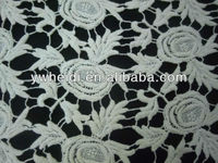 fashion rose flowers lace repeat white lace fabric