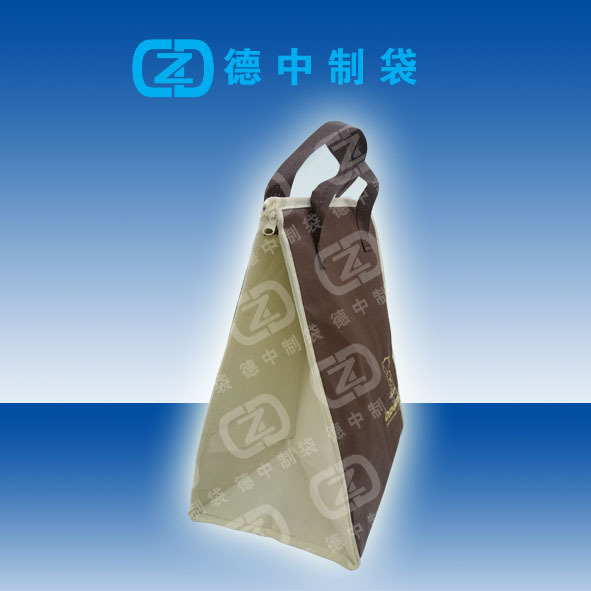 Screen logo printing Non woven carry bag with zip lock for frozen food or fruits