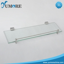 Custom logo 3 tier glass corner shelf with good price