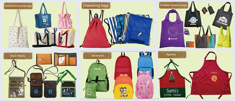 Simple canvas school bags with handle