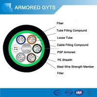 Fiber optic duct cable telecom used single mode or multimode price per meter GYTS