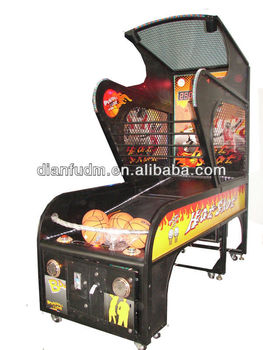 Amusement basketball game machine