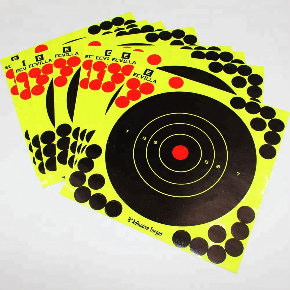 Splatterburst Targets & Splatter Reactive Self Adhesive Shooting Targets - Gun - Rifle - Pistol - AirSoft - BB Gun