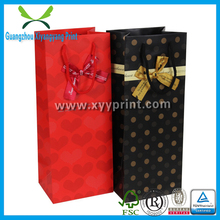 Custom Paper Single Wine Bag, Elegant Wine Gift Paper Bag