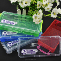 back to school clear plastic pencil case