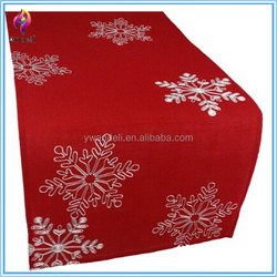 Home Fashions red christmas table runner,felt table runner,Christmas Table Runner with Snowflakes