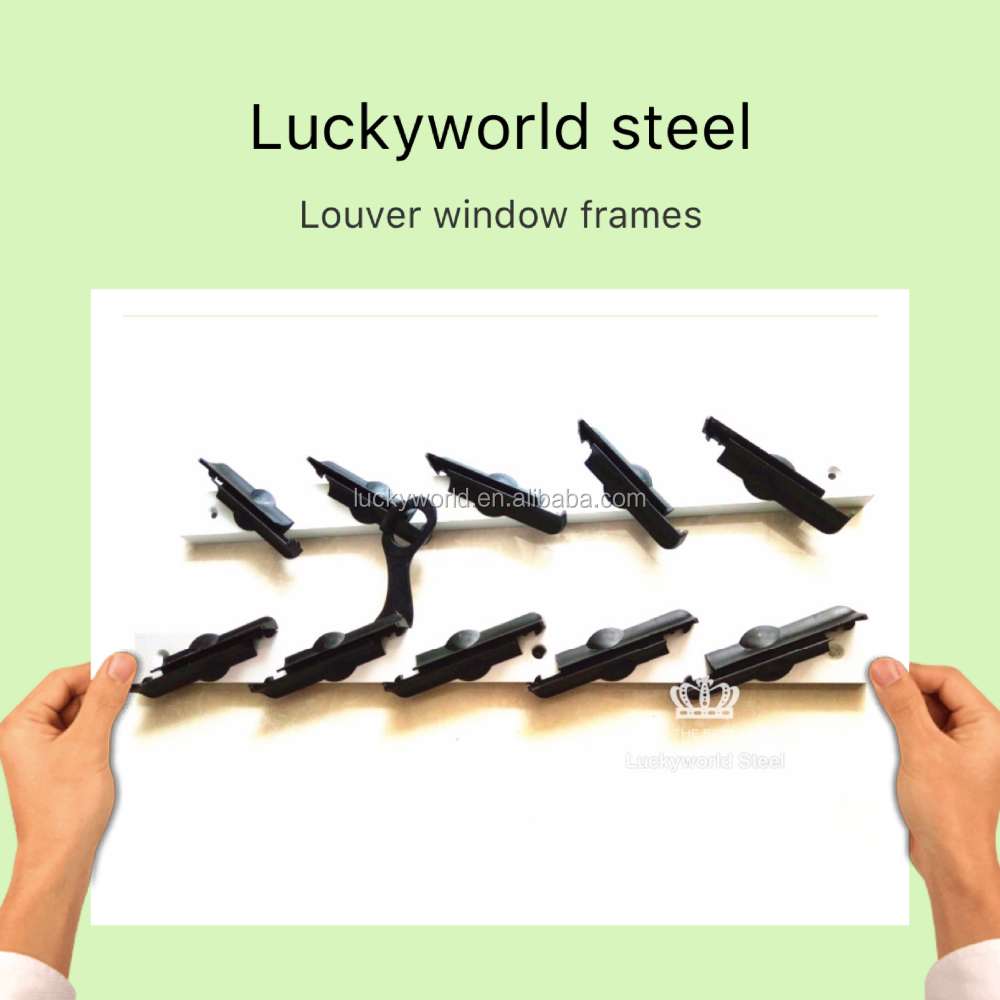 hot sale 4inch steel aluminum plastic louver window frame