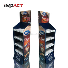Best Price Fashionable Cardboard Point of Sale Display Unit with Removable Header for Tea