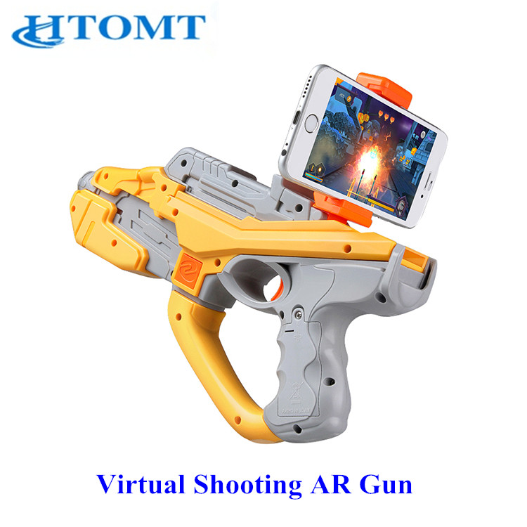 2017 sale andrews 4.4 or IOS8.0 system plastic ar gun for mobile phone