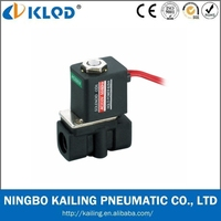 Mini Type Plastic Solenoid Valve Water 24V