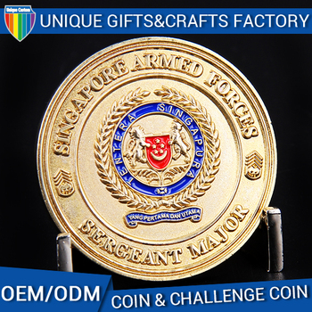 ODM OEM custom gold metal military antiqu souvenir silver challenge coin