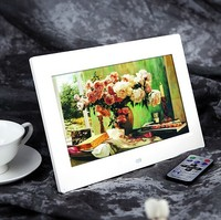 10inch HD TFT-LCD 1024*600 Digital Photo Picture Frame with Alarm Clock MP3 MP4 Movie Player Remote Control