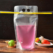 Resealable Clear Plastic Juice Bag for Fruit Juice Packaging
