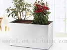 rectangular plastic plant flower pot with water indicator