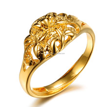 Copper 18k gold jewelry classic wealth finger male ring adjustable brand new designs for girlsJk010