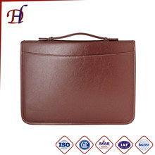 2017 PU Leather Men's Briefcase with Handles and A4 size document folder for business