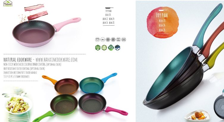 Hanxin pressed dazzle colorful fry pan