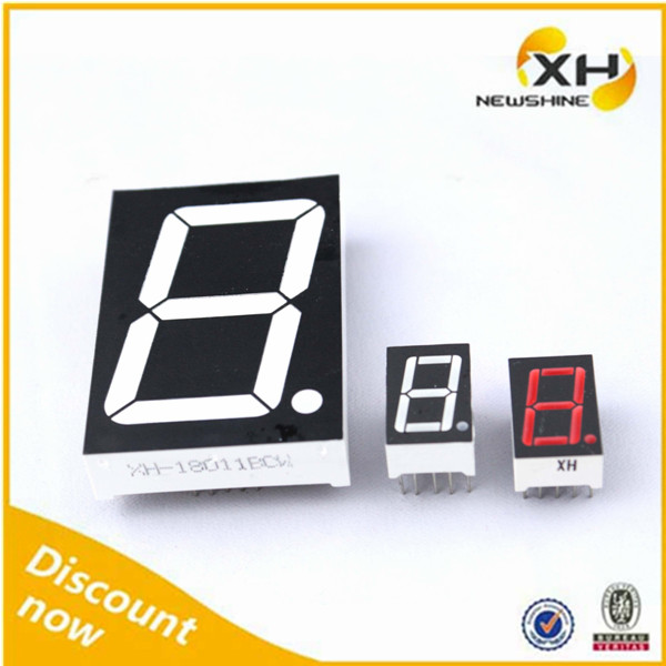 Double 11 Wholesale FND LED Red Color 1 Digit 1.5 Inch Seven-Segment Display