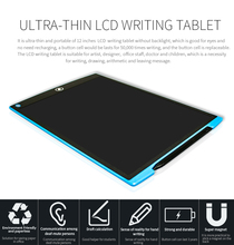 12.5 Electronic LCD Writing Pad/LCD writing tablet /drawing board for school and office