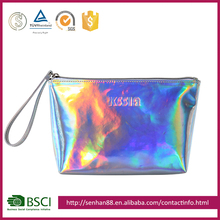 Eco-friendly wholesale colorful Support custom logo PVC square beauty private label bags logo profession travel cosmetic bag