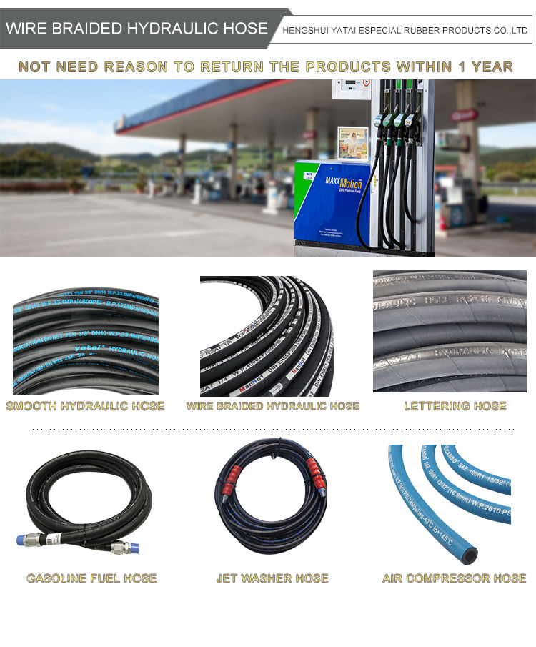 "High Quality 5000 PSI 3/8"" high pressure washer hose 50 feet/100 feet with fittings"