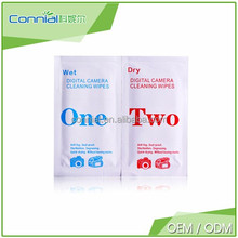 Connial brand OEM Hot Sale Disposable /glasses Lens surface /camera/screen wet wipe