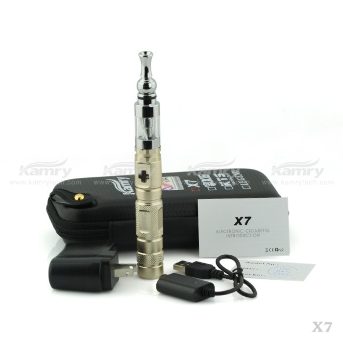 New X6 Model VV Mod X7 Ecig Vapor starter kits with Zipper Case with Anti-fake Code
