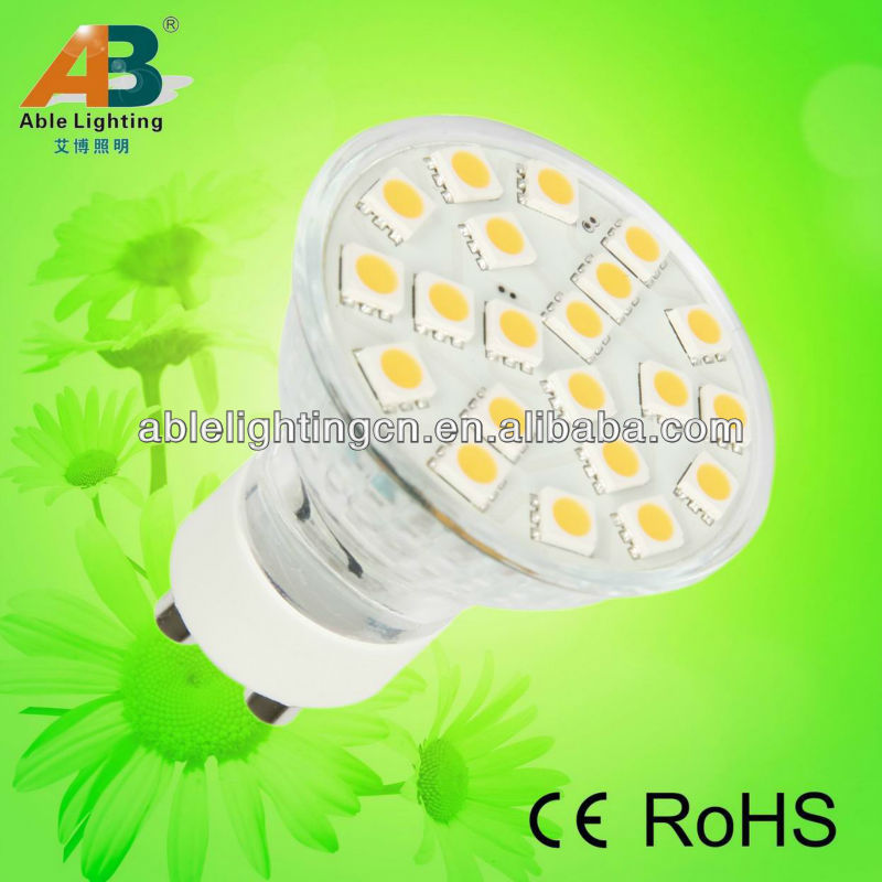 3.1w 3chip dimmable 21 smd 5050 led gu10 lights lamp 220v AC