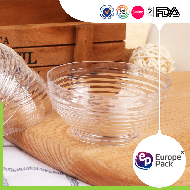 eco friendly plastic disposable noodle soup pudding container with lid