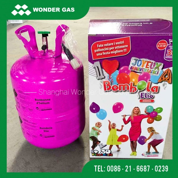 Different Colors Helium Tank For Balloons