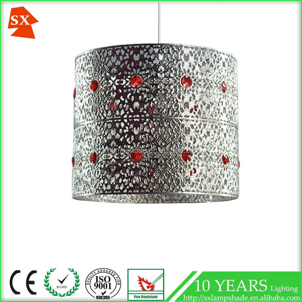 diamond poppy red acrylic living chrome light cover ball pendant lampshade