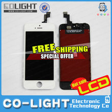 Free DHL! cellphone repair replacement for iphone 5s lcd with digitizer touch screen full assembly