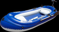 Inflatable Fishing Boat with Electric Motor, Inflatable Boats, Inflatable Motor Boat