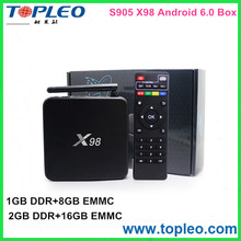 wholesale Android 5.1 2gb ram x98 mini pc android smart tv box Media Player
