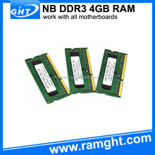 Real manufacturer non ecc unbuffered 1333mhz cheap laptop ddr3 4gb ram