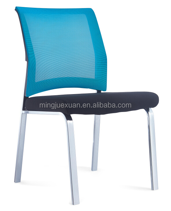 ergonomic fabric seat visitor chair with mesh back